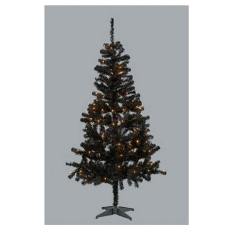 buy 6ft black pre lit tree from our christmas trees range