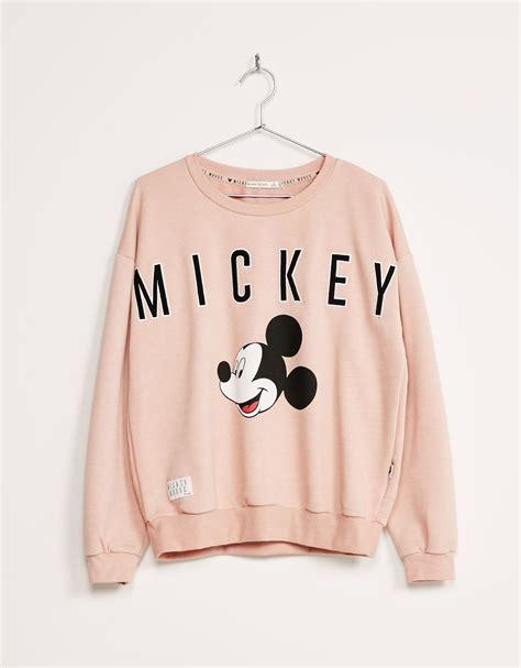 Bershka Sweatshirt Mickey Print bsk mickey sweatshirt sweatshirts bershka united