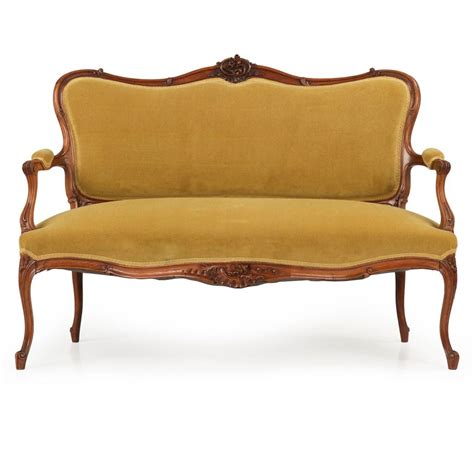 rococo settee rococo revival walnut parlor suite with settee and four