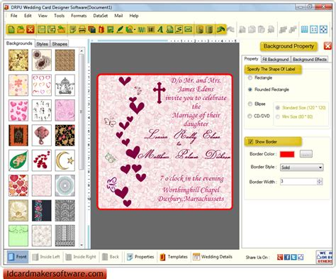 Wedding Invitation Software by Wedding Invitation Wording Wedding Invitation Maker Software