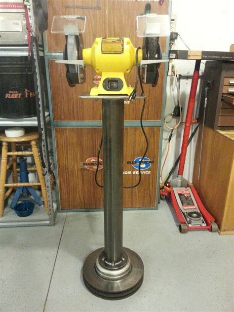 how to make a bench grinder stand bench grinder stand project welding table pinterest