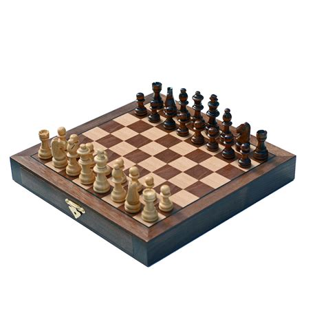 wooden chess set travel walnut wood chess set wood expressions