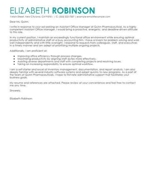 Download Office Manager Cover Letters