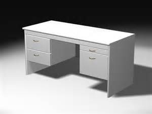 White Wood Desks White Office Desk 3d Model 3ds Max Files Free Download