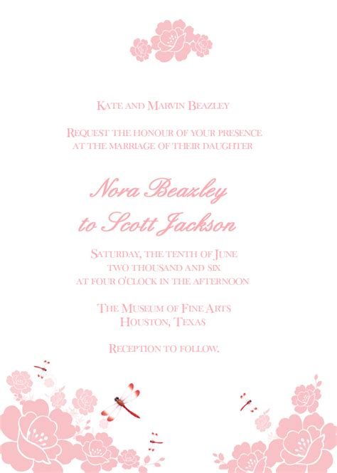 dragonfly wedding invitation template dragonflies invitation wedding invitation templates