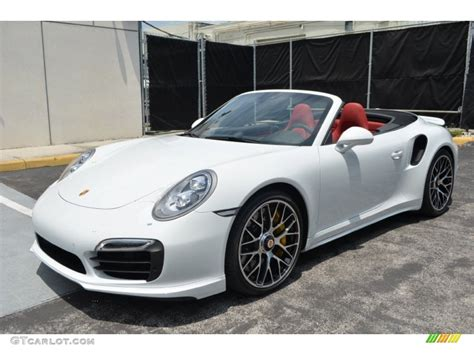 gold porsche convertible 2015 carrara white metallic porsche 911 turbo s cabriolet
