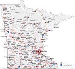 Mn State Map by The Map Of Minnesota State Free Printable Maps