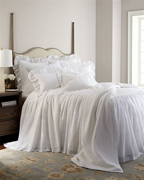 skirted coverlets queen skirted bedspread white queen contemporary