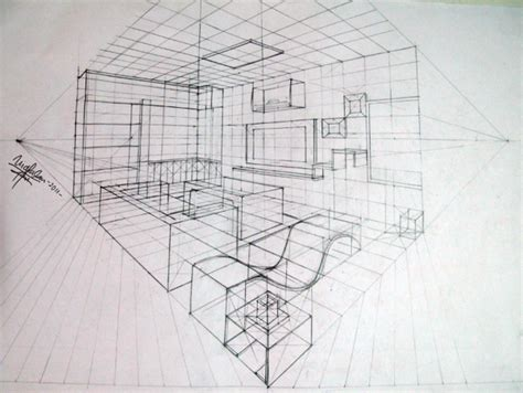 2 Point Perspective Interior Room by Interior Perspective Drawing Search Interior