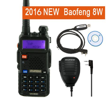 Terlaris Walkie Talkie Baofeng Dual Band 8w 128ch Uhfvhf Bf Uvb2 Pl baofeng uv 5r 8w walkie talkie uv8hx dual band ham radio baofeng 82 uv82 gt 3 markiii uv