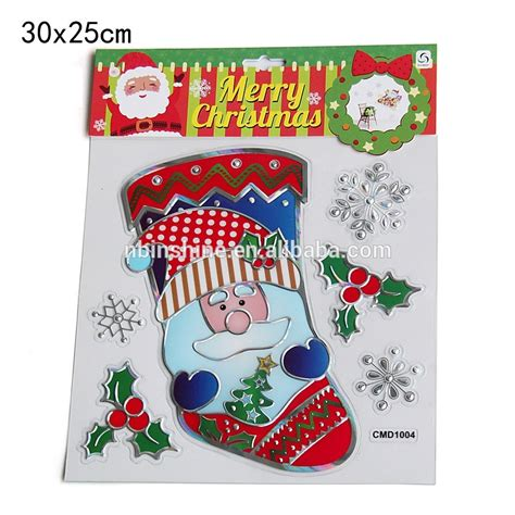 2017 christmas wall sticker 3d christmas window sticker