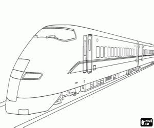 a high speed train coloring page printable game