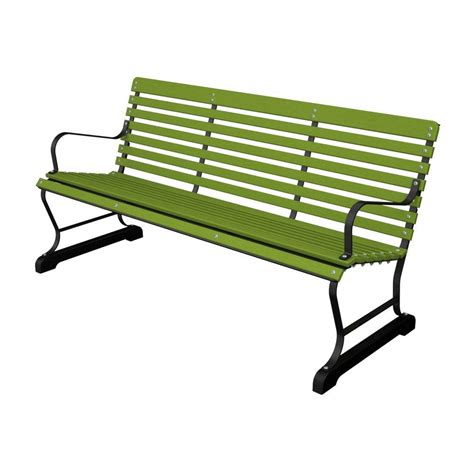 terrace 60 in black and lime patio bench ivb60fblli