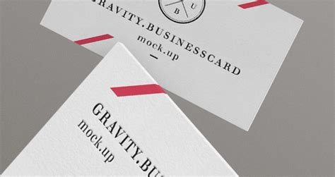 Gravity Gift Card - gravity psd business cards mock up psd mock up templates pixeden