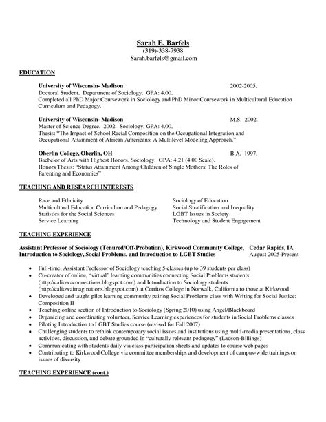 Resume Sles For Education Majors Exles Of College Graduate Resumes College Student Resume Exles Experience