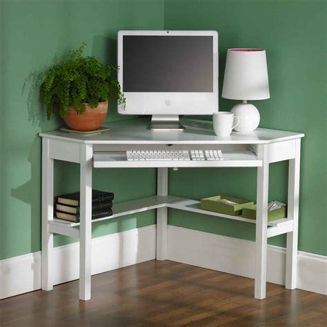 White Corner Computer Desk For Home Office Office Architect Corner Desks Small Spaces