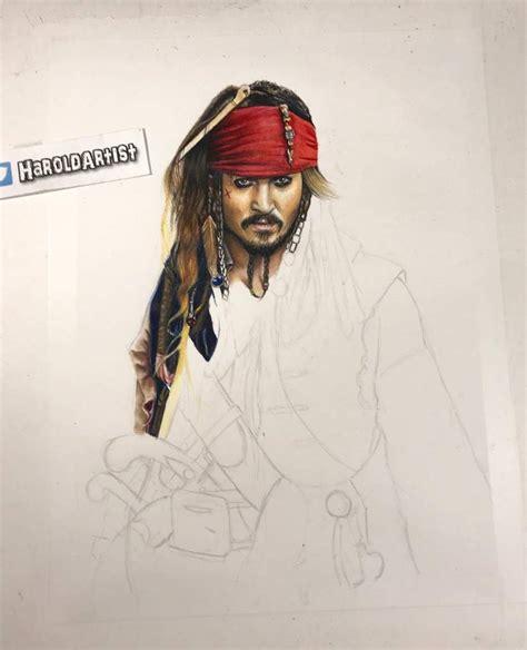 imagenes de jack sparow dibujo de jack sparrow de los piratas del caribe arte