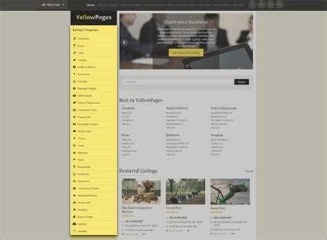 Yellow Pages Website Template Free Download Responsive Directory Theme 2018 Yellow Pages Yellow Pages Website Template Free