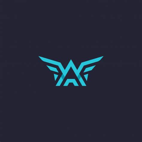 letter wings logo vector premium