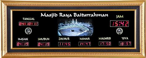 Jadwal Sholat Digital Plus Running Text Murah jual jam digital masjid gold a imsak jadwal sholat digital