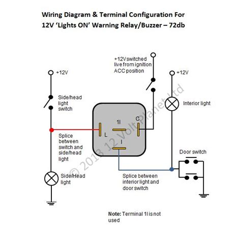 12 volt headlight relay wiring diagrams