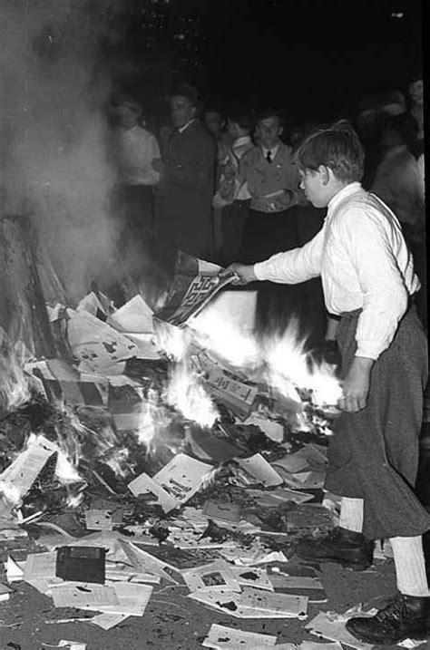 Burning books in Bochum, Germany, in 1933. Including books