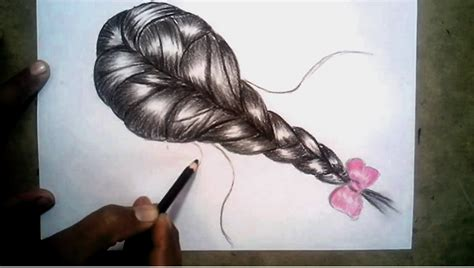 Drawing Of A With Braids by Hair Plaited Hair Pencil And In Color Hair