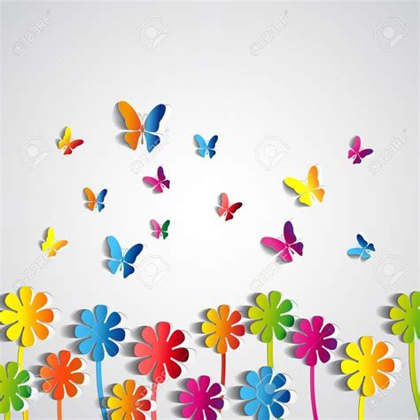 imagenes mariposas de papel flores de papel de fondo abstracto mariposas de papel