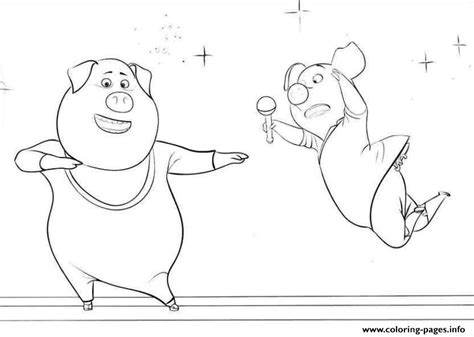 printable coloring pages for cing free sing movie 2 pigs coloring pages printable