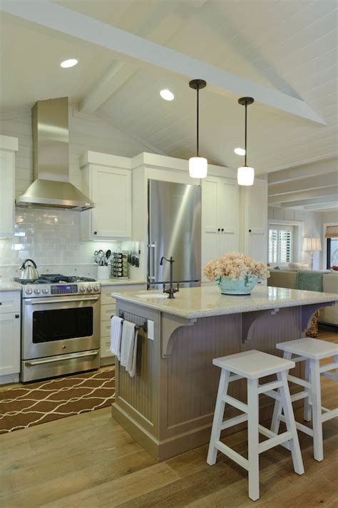 Minka Lavery Mini Chandeliers Beadboard Ceiling Kitchen Transitional Kitchen