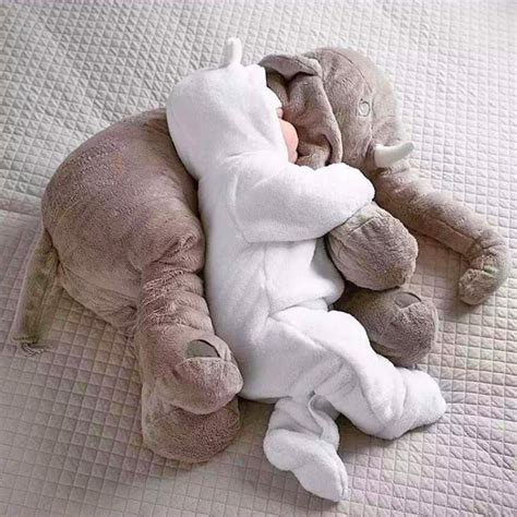 Snuggle Pillow For Babies by Plush Elephant For Your Baby To Snuggle