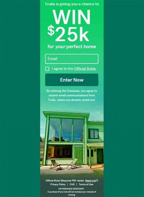 Trulia Sweepstakes - trulihome 25k giveaway trulia com trulihome sweepstakes pit