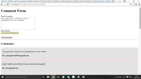 tutorial java ajax comment form exle using ajax in java javatpoint