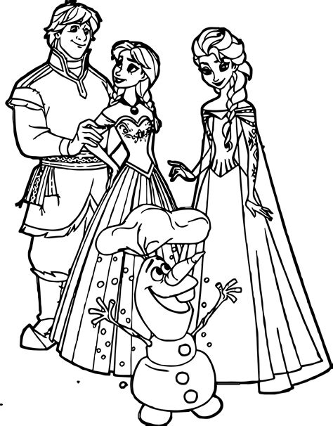 coloring pages elsa and olaf anna kristoff elsa olaf coloring page wecoloringpage