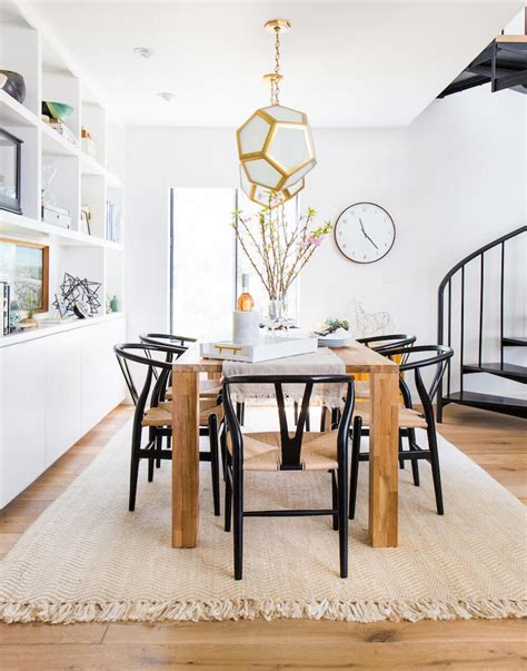 wishbone chairs   scandinavian dining room