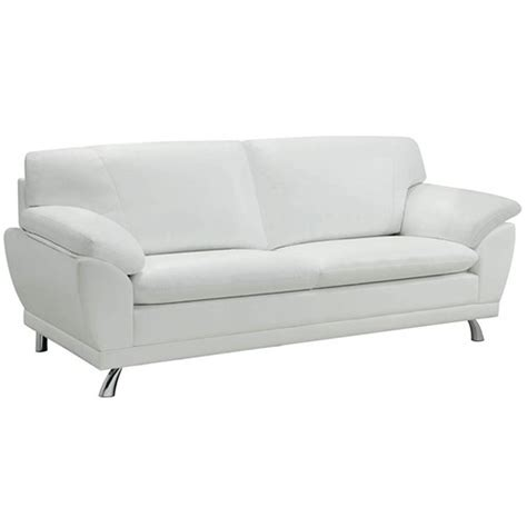 Kitchen Cabinets Outlet by Coaster Robyn 504541 White Leather Sofa Steal A Sofa