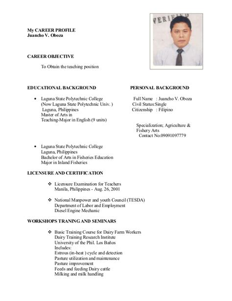 High School Resume Profile Exles by Career Objective For Teaching Profile 28 Images