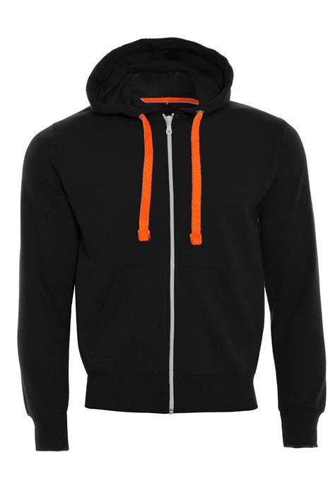 Hoodie Neon boys sleeve zip up fleece hooded neon strings