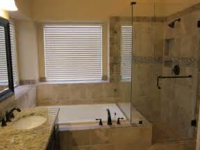 Bathroom Tub And Shower Designs Shower And Tub Master Bathroom Remodel Traditional