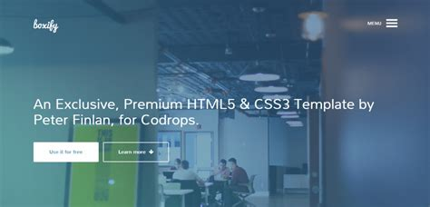 25 Best Free Html5 Templates Html5 Animated Website Templates