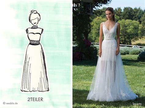 Brautkleider Zweiteilig by Die Formen Eines Brautkleides Weddix