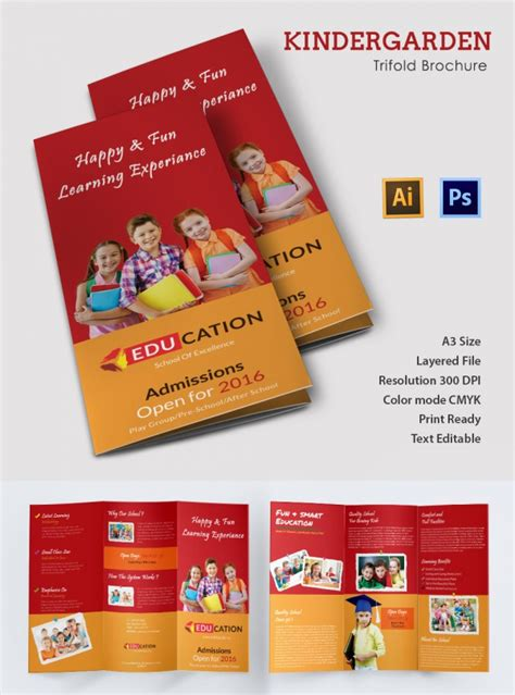 play school brochure templates school brochure 22 in psd vector pdf