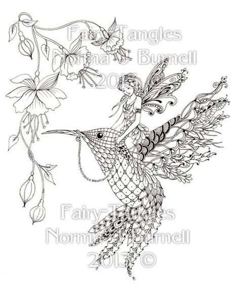 coloring pages hummingbirds flowers magical ride tangles printable coloring book pages