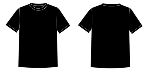 black plain t shirt clipart best