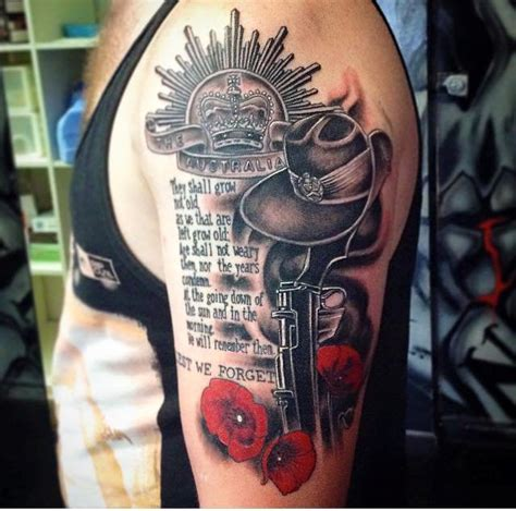 australian army tattoo designs sinister ink on quot anzac by flip
