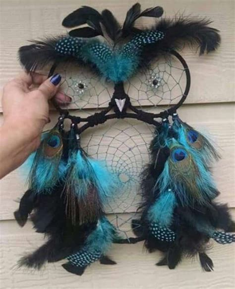 dreamcatcher feathers owl dream catchers the whoot