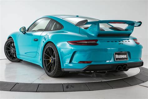 miami blue porsche boxster miami blue 2018 911 gt3 is the driver s porsche