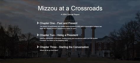 Mizzou Mba Program by Mba Awards Mizzou At A Crossroads Kbia