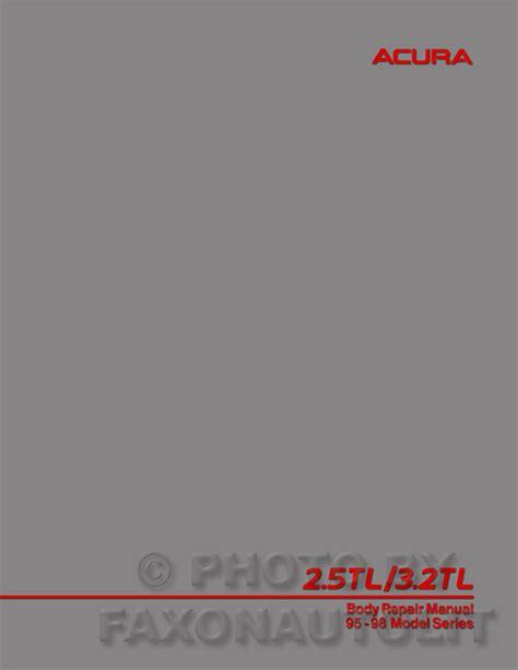 1996 acura 3 2 tl repair shop manual original supplement 3 2tl service book ebay 1996 acura tl owners manual original 2 5tl 3 2tl