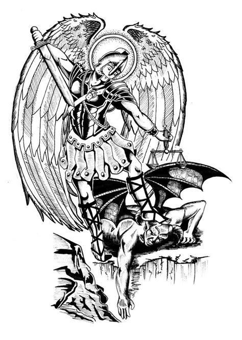 saint michael archangel tattoo designs enforcement tattoos search ideas